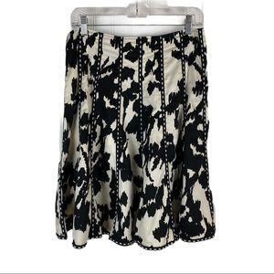 CABI Dashing Black and Ivory Skirt